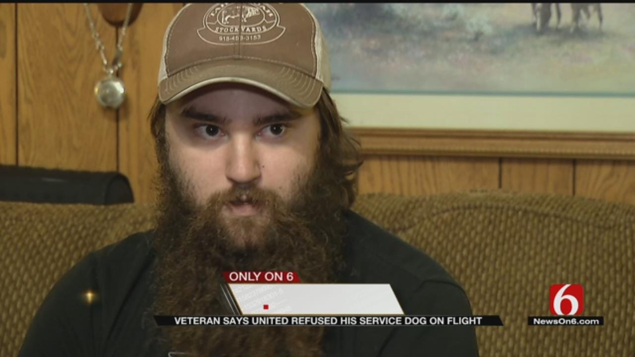 Fort Gibson Veteran's Service Dog Denied Access On Plane