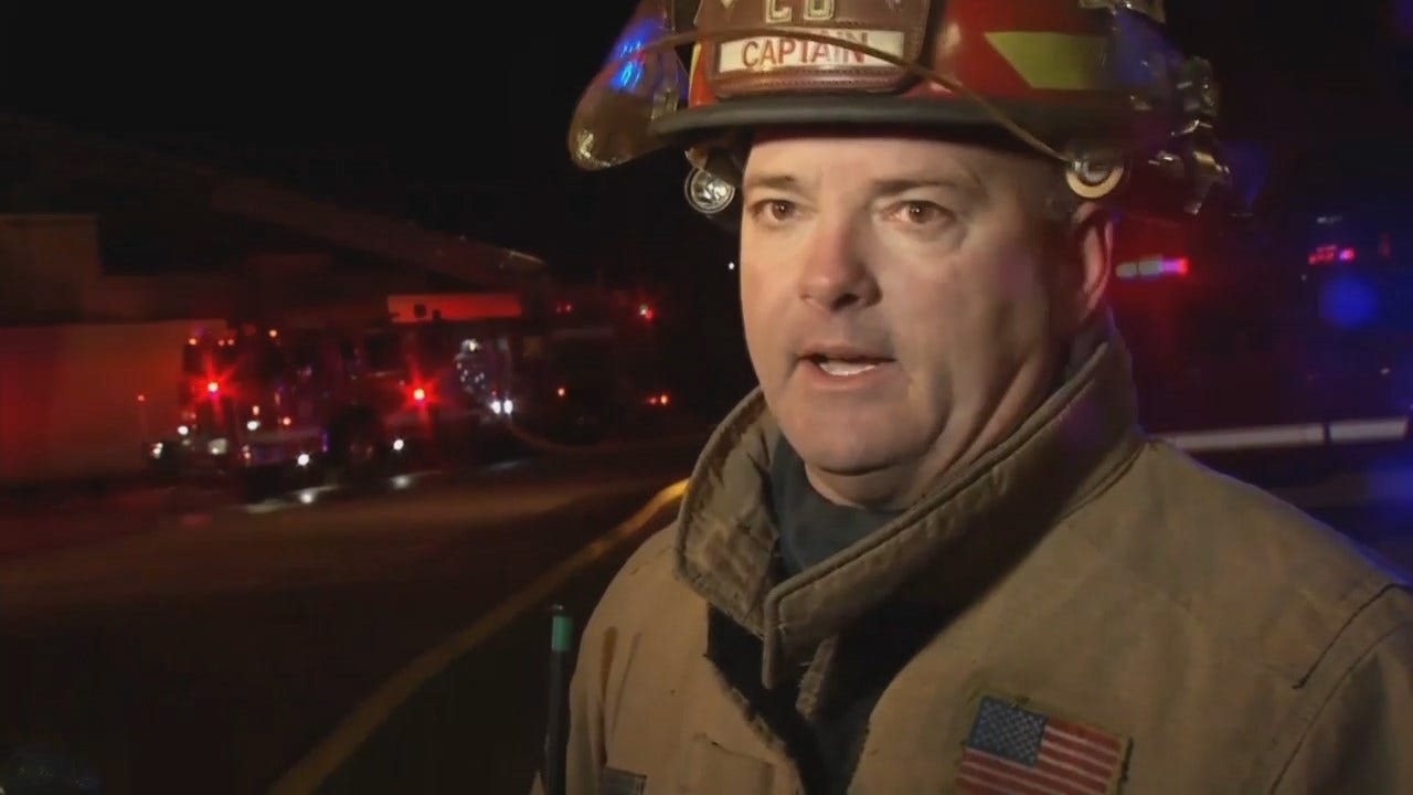 WEB EXTRA: Tulsa Acting District Chief Terry Sivadon Talks About The Fire