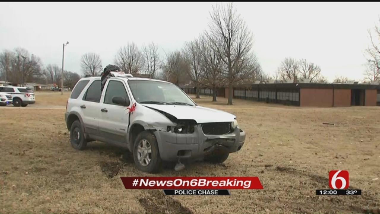Deputies Search For Woman After Tulsa Pursuit, Crash