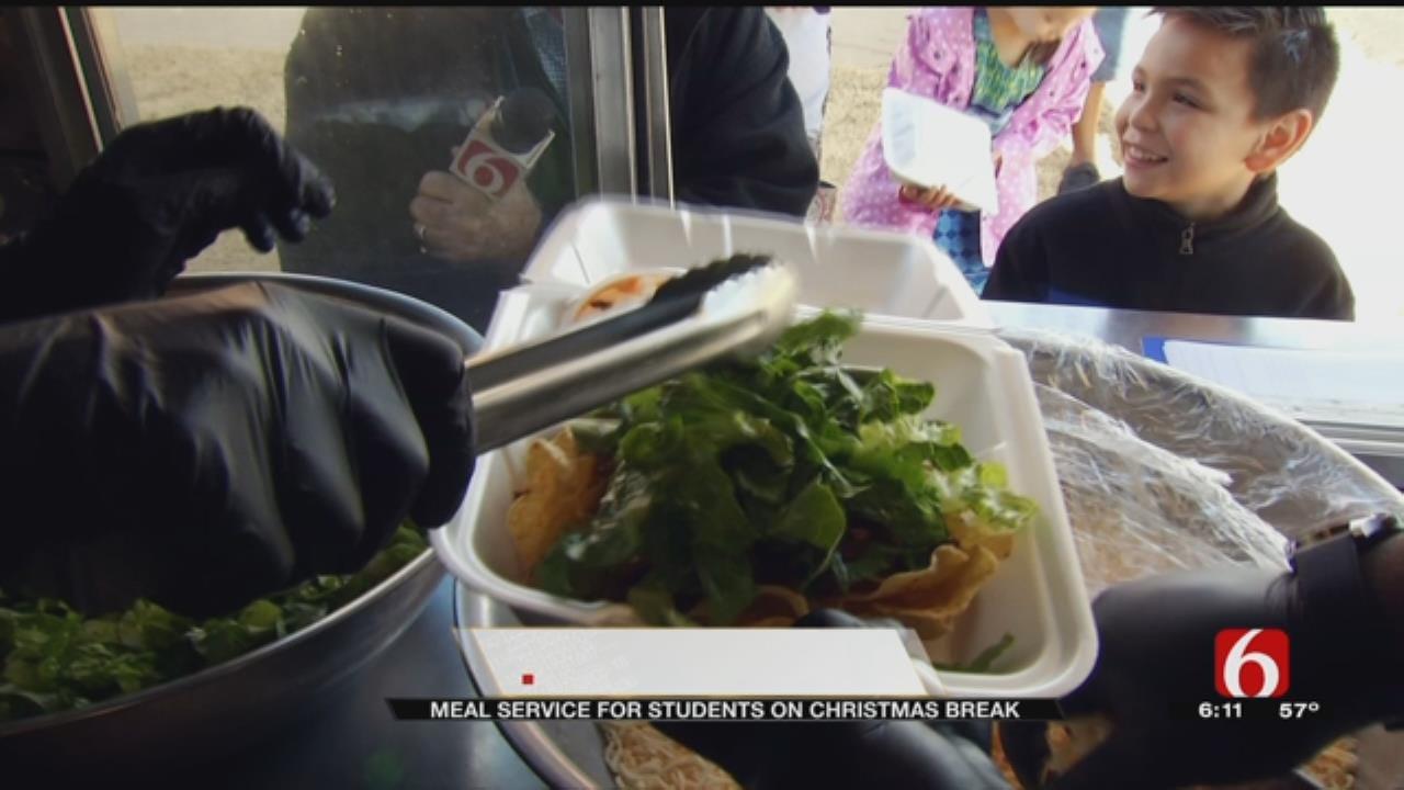 Food Bank Feeding Kids In Need While School Is On Break