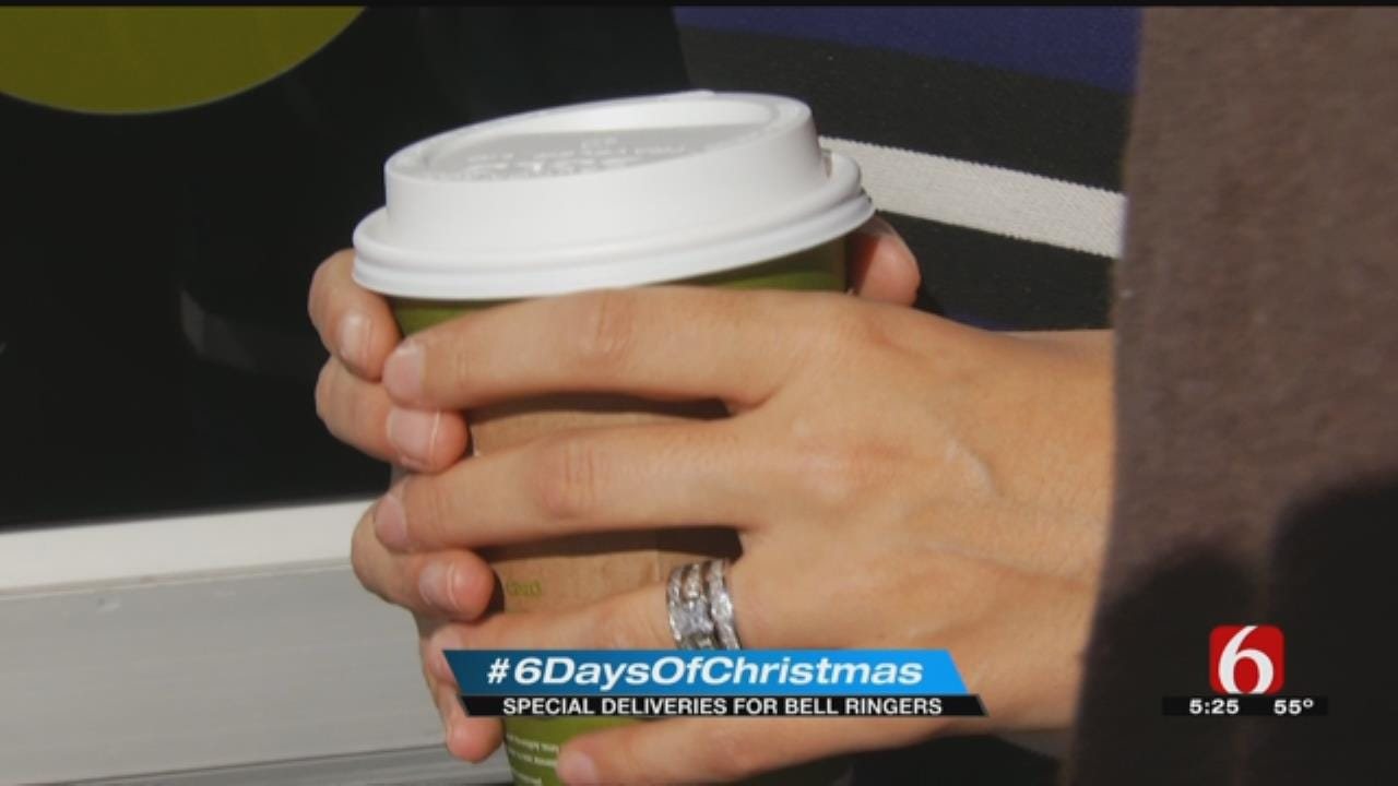 News On 6 Delivers Warm Drinks To Salvation Army Bell Ringers