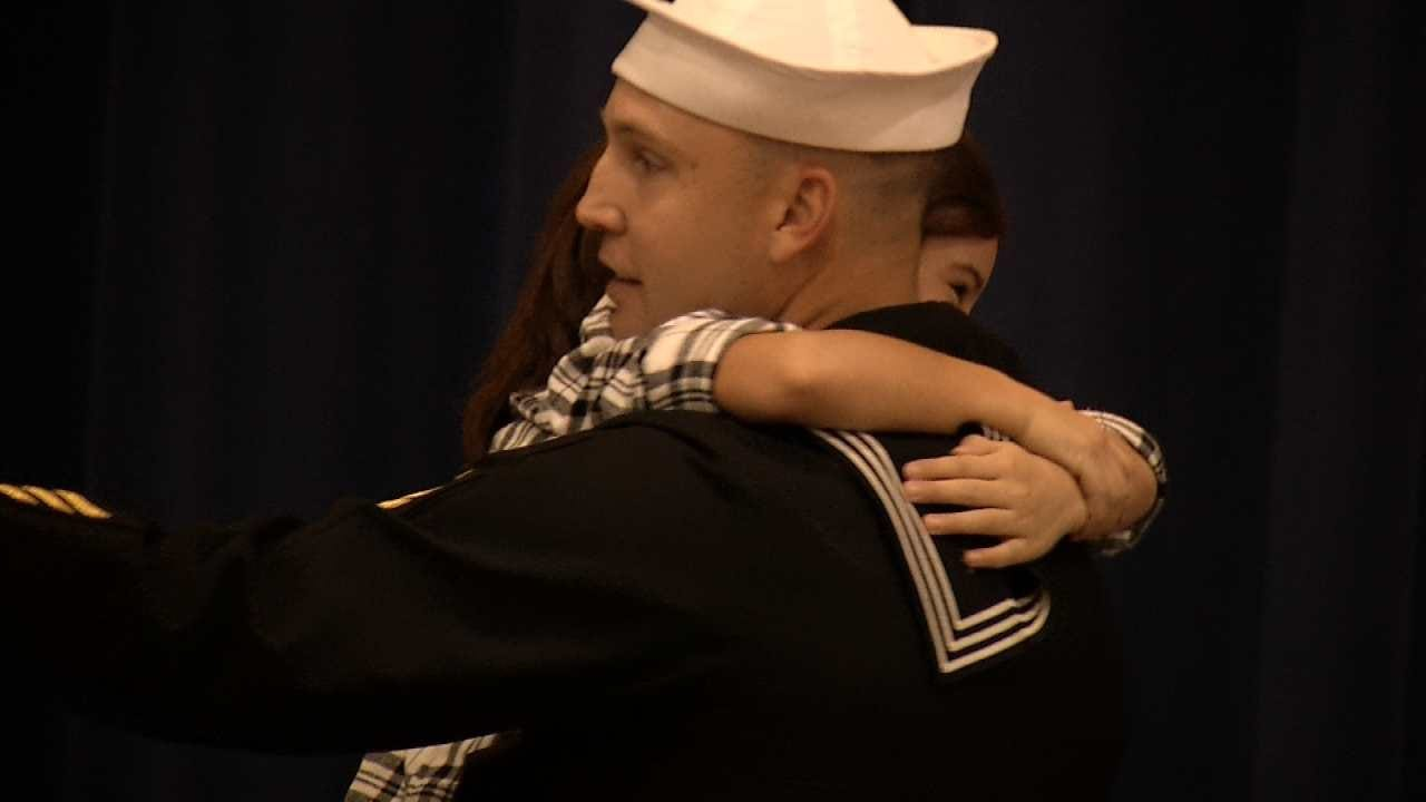 Cleveland Kids Surprised At School By Navy Dad