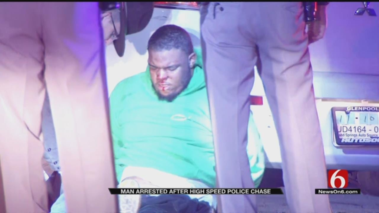 Police Chase Through 4 Cities Ends With Tulsa Arrest