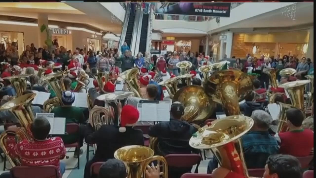 WEB EXTRA: Tulsa Tuba Christmas At Woodland Hills Mall