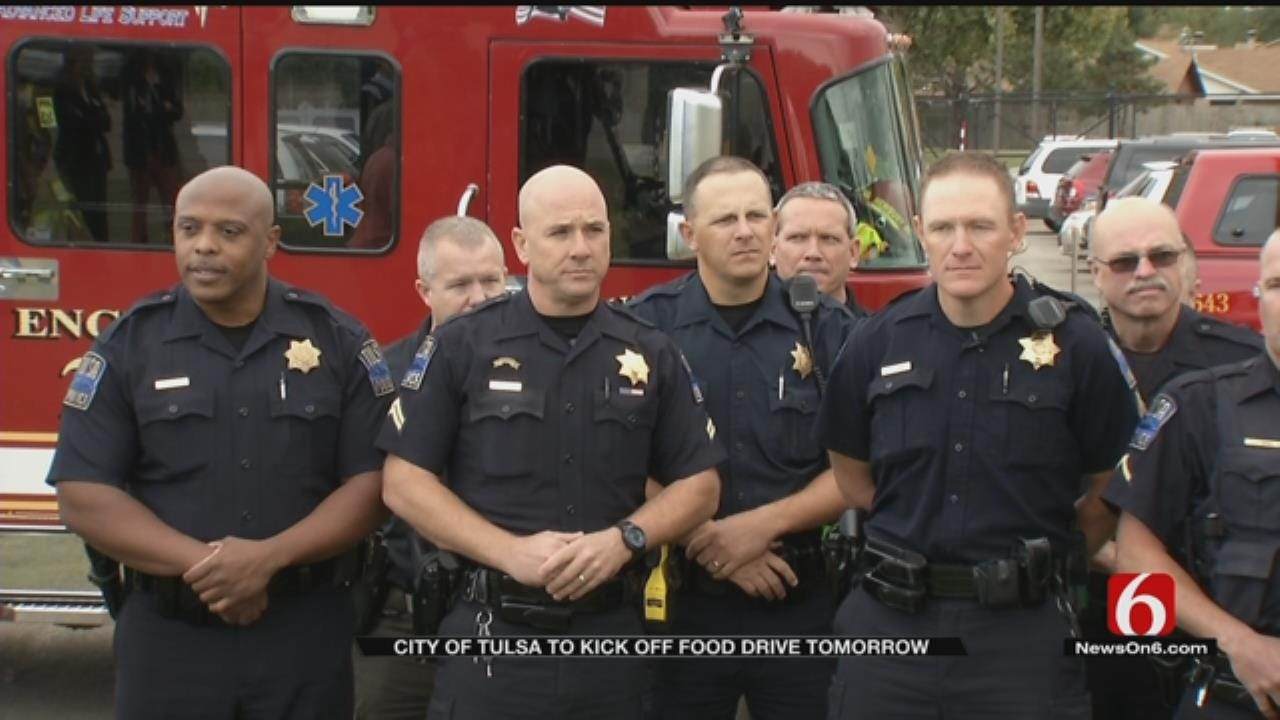 Tulsa Fire, Police Stations To Take Food Donations