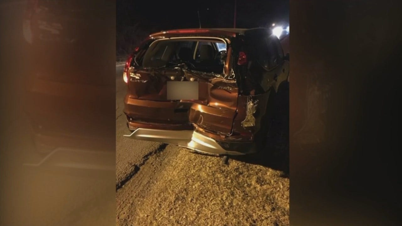 Woman Recovering, Man Arrested After Jenks Hit-And-Run Crash