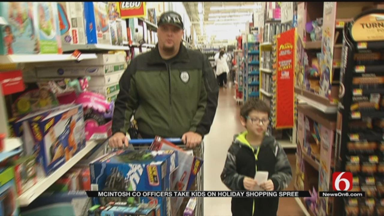 80 McIntosh County Children 'Shop With A Cop' For Christmas