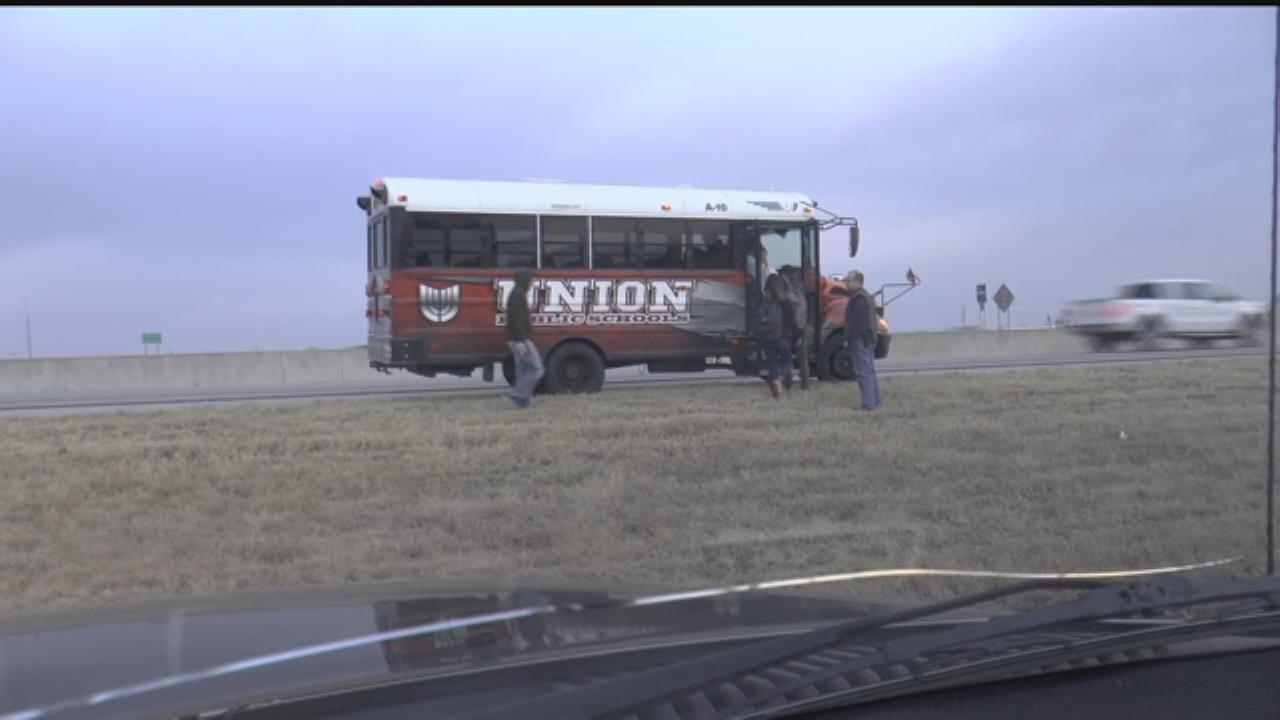 Union School Bus Breaks Down On Highway 169