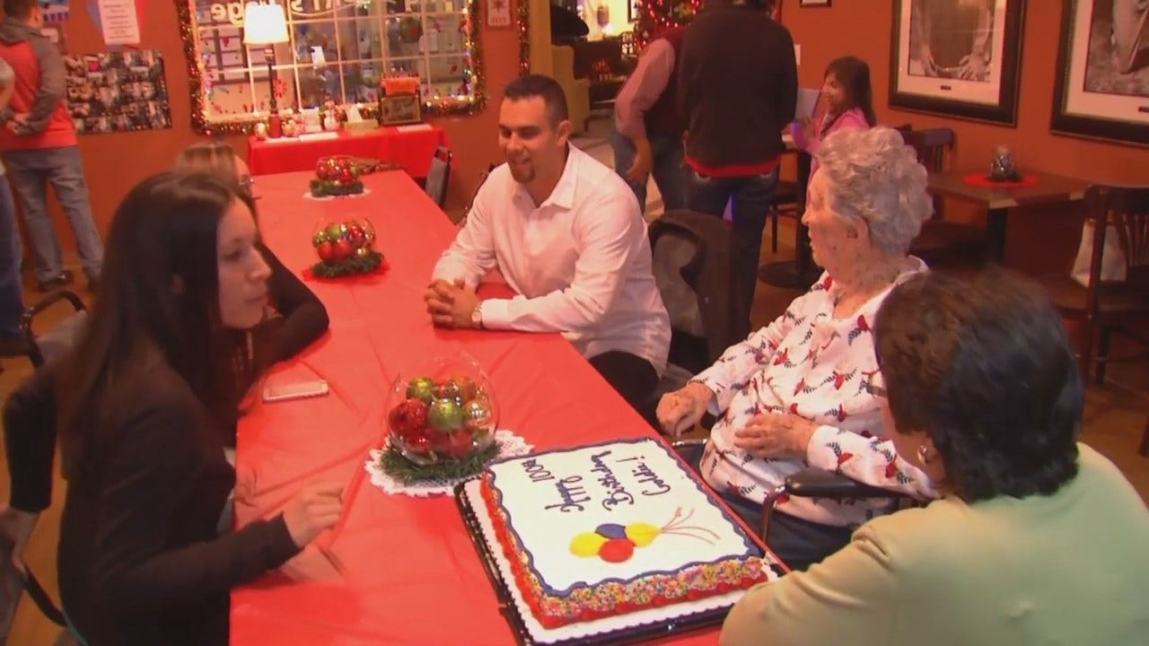 WEB EXTRA: Video From Tulsa Woman's 100th Birthday Party