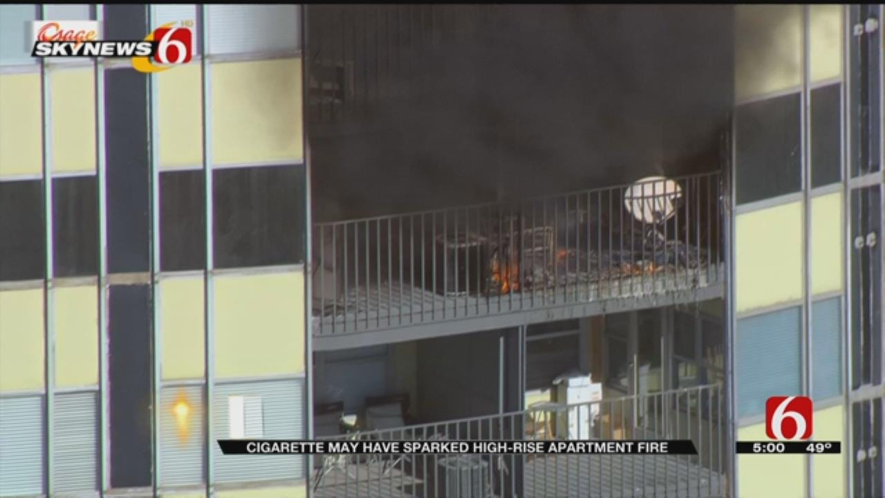 Fire Breaks Out At High-Rise Downtown Tulsa Apartment Complex