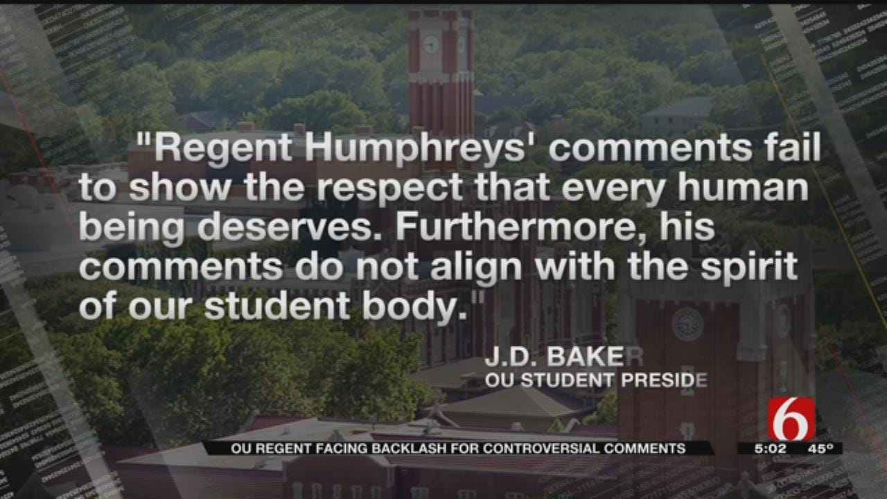 Tulsans Call For Resignation Of OU Regent After Controversial Comments