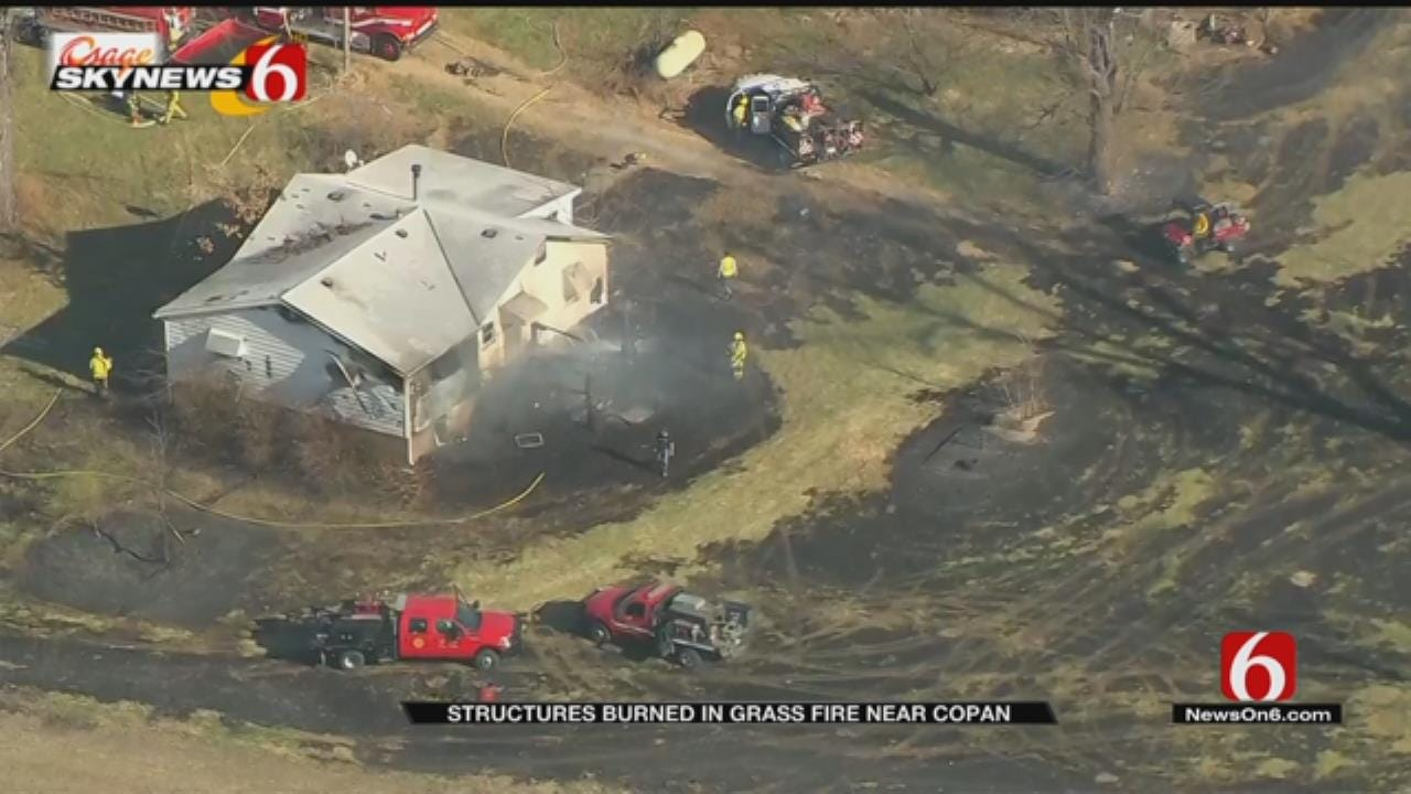 Structures Involved In Copan Grass Fire