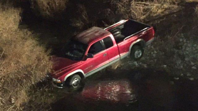 Tulsa Man Taken To Hospital After Car Hits Guardrail, Lands In Creek