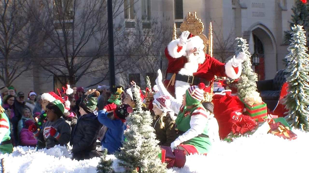 Tulsa Christmas Parade Floats Through Downtown