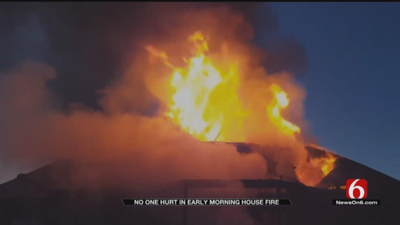 Jenks Family Safe After House Fire