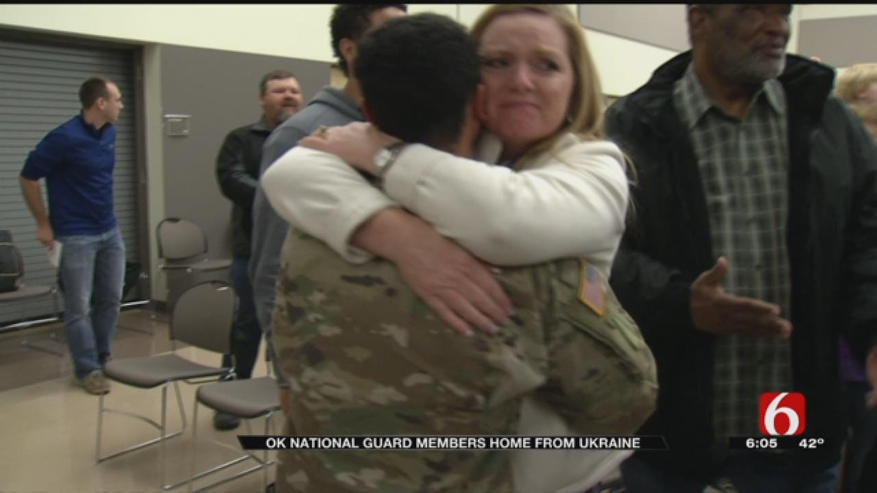 Oklahoma National Guard Members Return Home From Ukraine