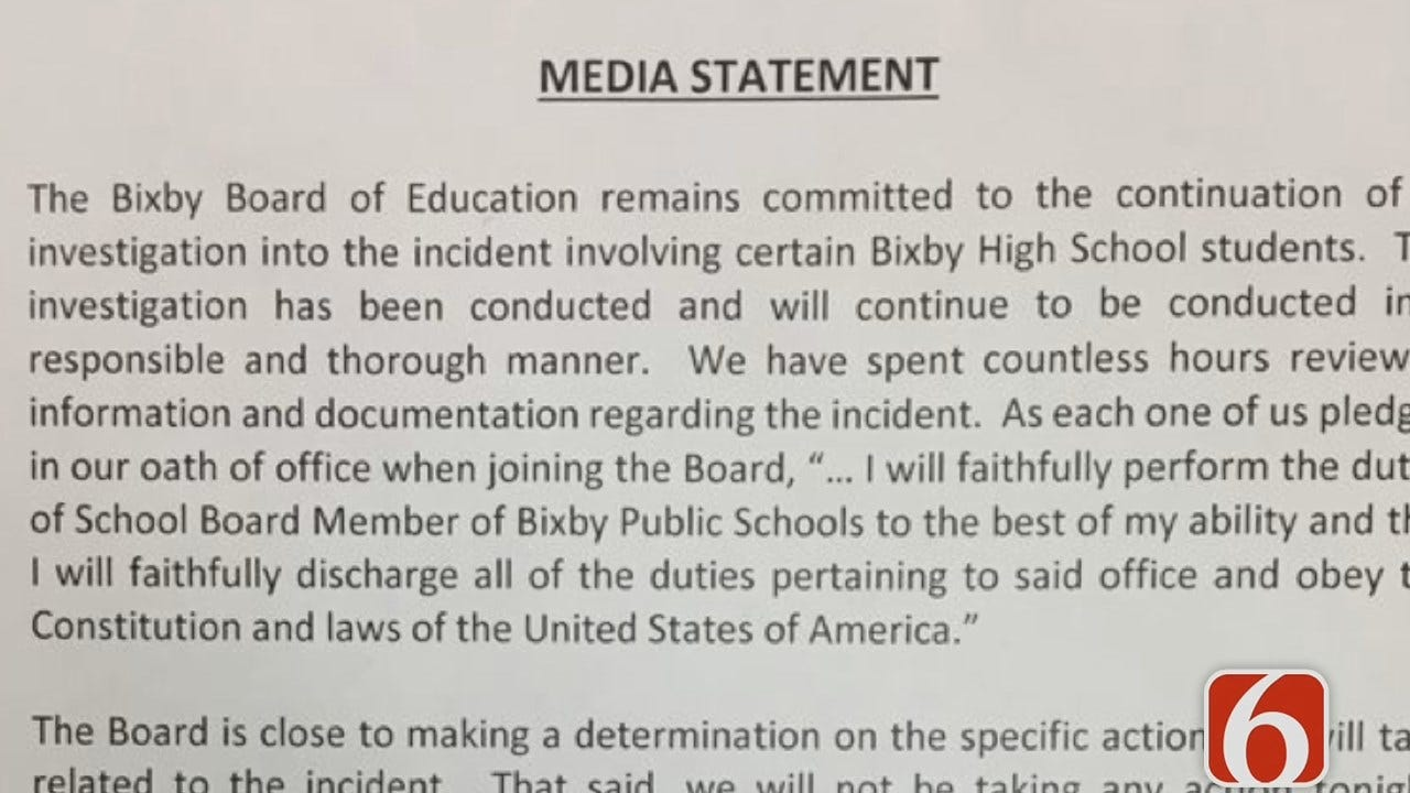 Sawyer Buccy: Bixby Holds 7-Hour Meeting On Alleged Sexual Assault
