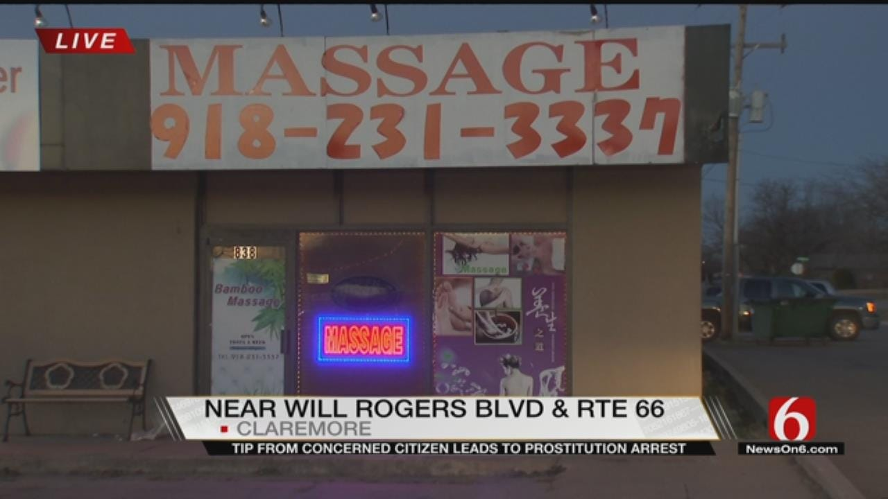 Claremore Massage Parlor Employee Accused Of Soliciting Sexual Acts