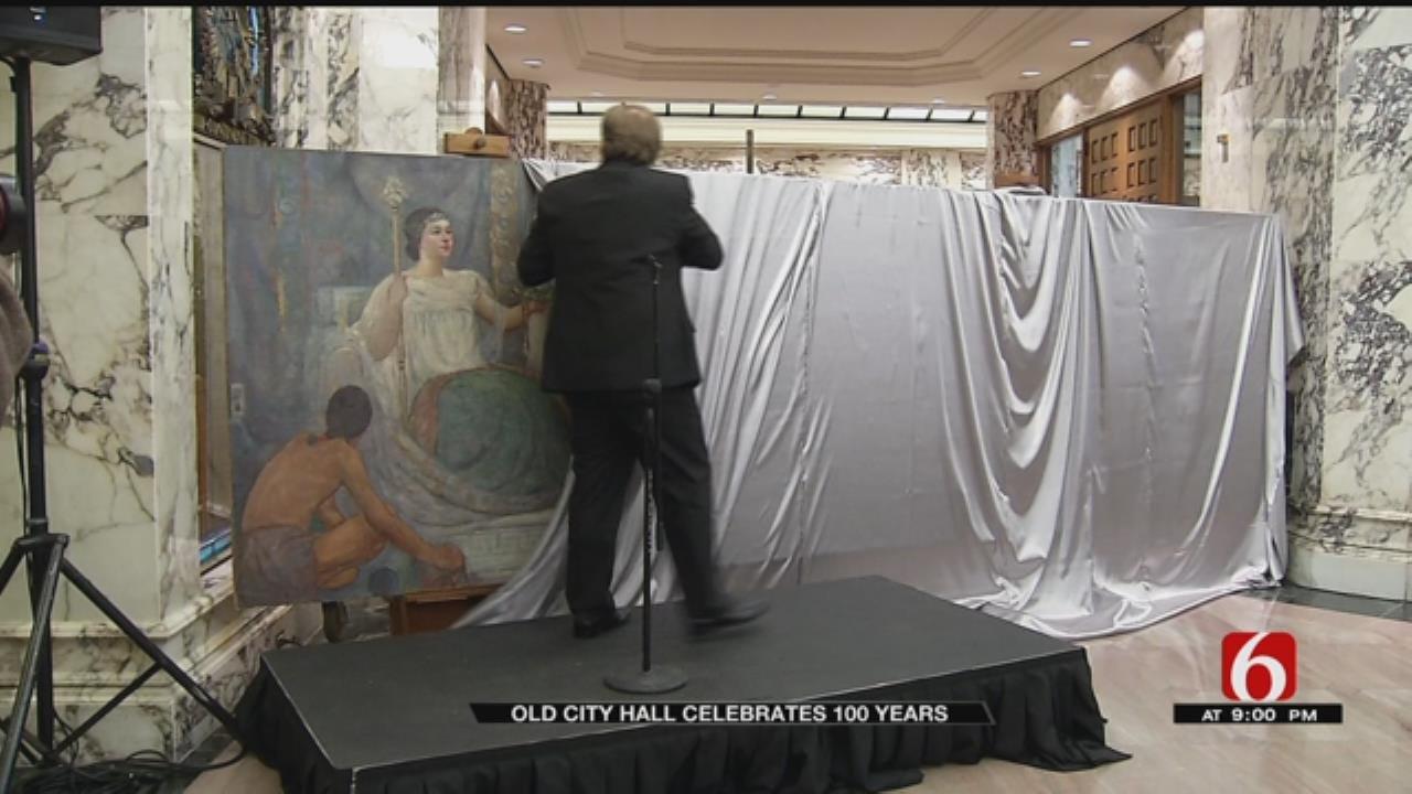 Tulsa Leaders Unveil 17-Foot Mural Inside Old City Hall