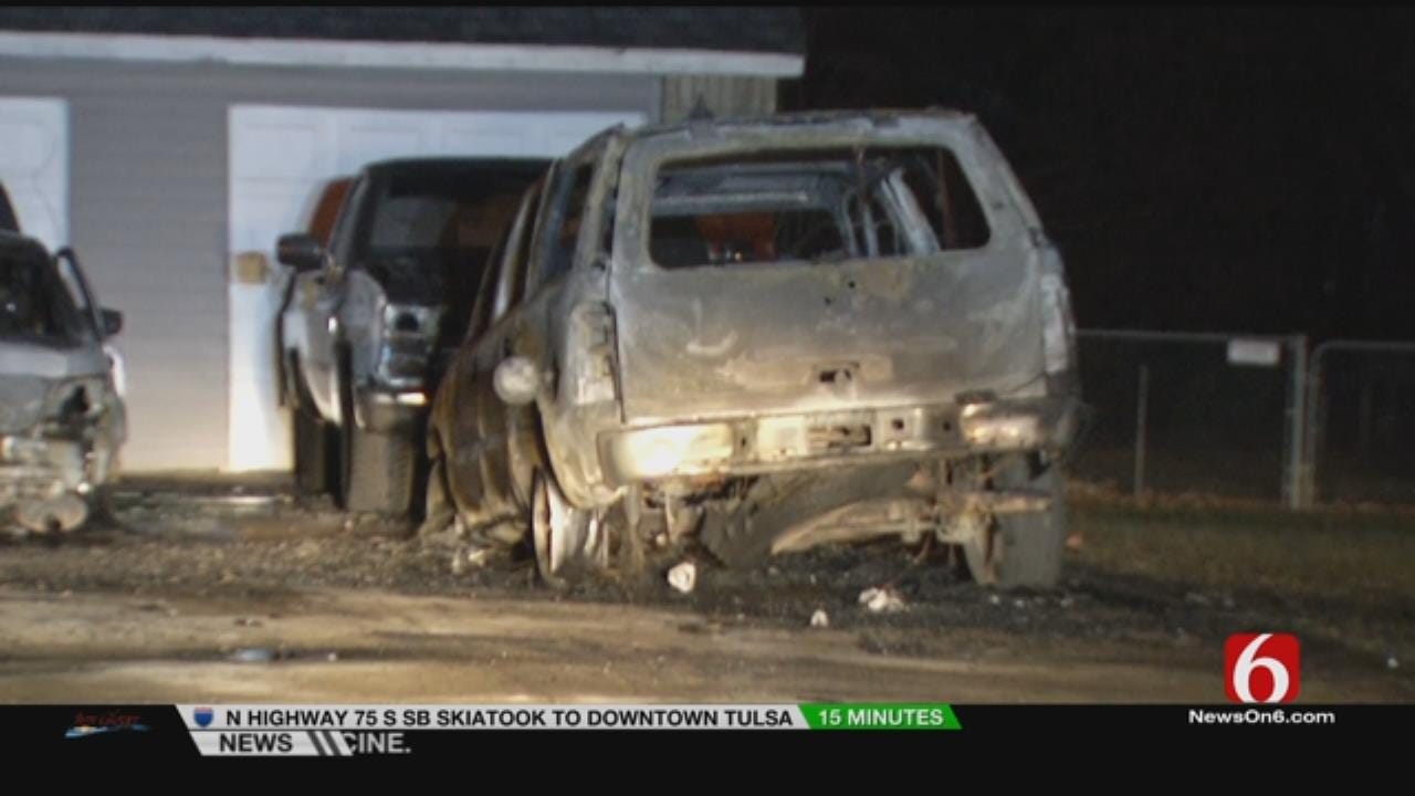 Fire Destroys Three Vehicles Outside Turley Home