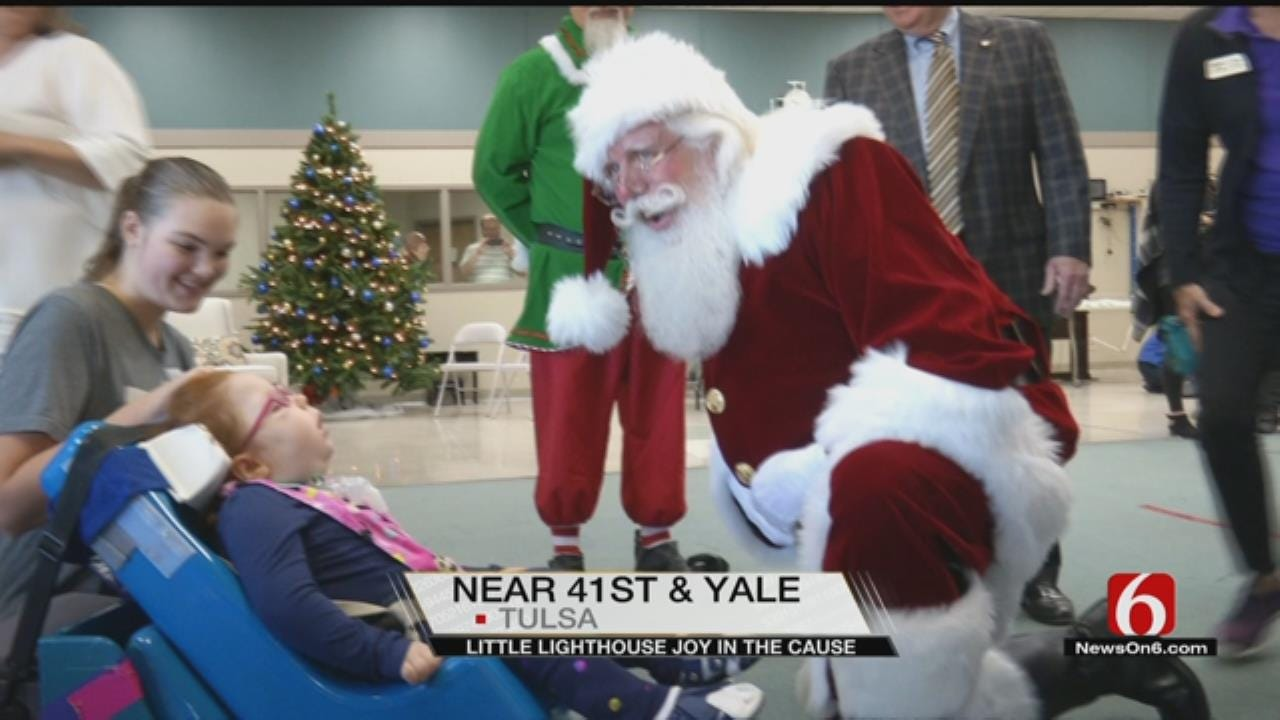 Children At Tulsa's Little Lighthouse Celebrate Early Christmas