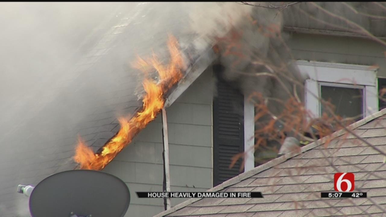 Tulsa Home Likely A Total Loss After Fire