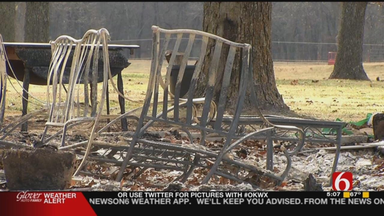 Glenpool Firefighter, Family Lose Home In Fire Near Slick