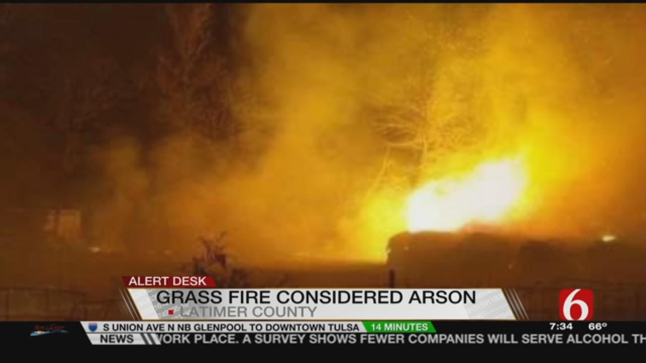 Arson Threatens Structures In Latimer County