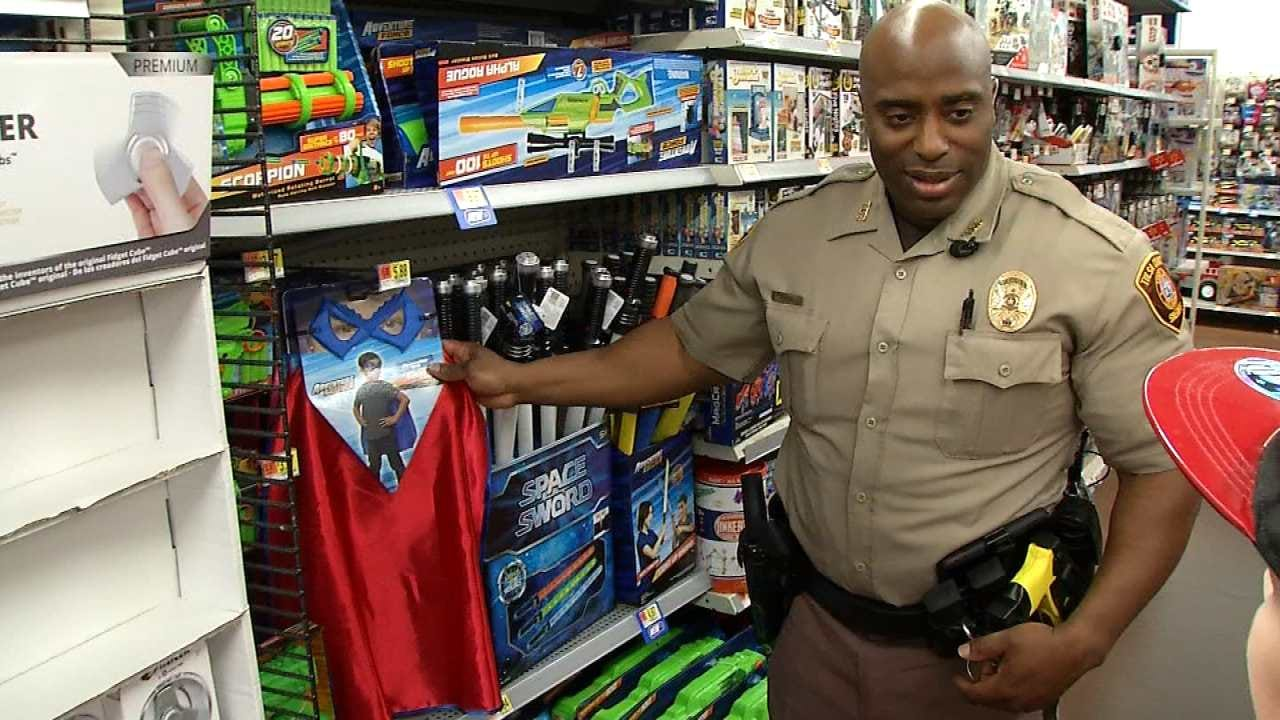 TCSO, Bixby PD Team Up To Let Kids 'Shop With A Cop'