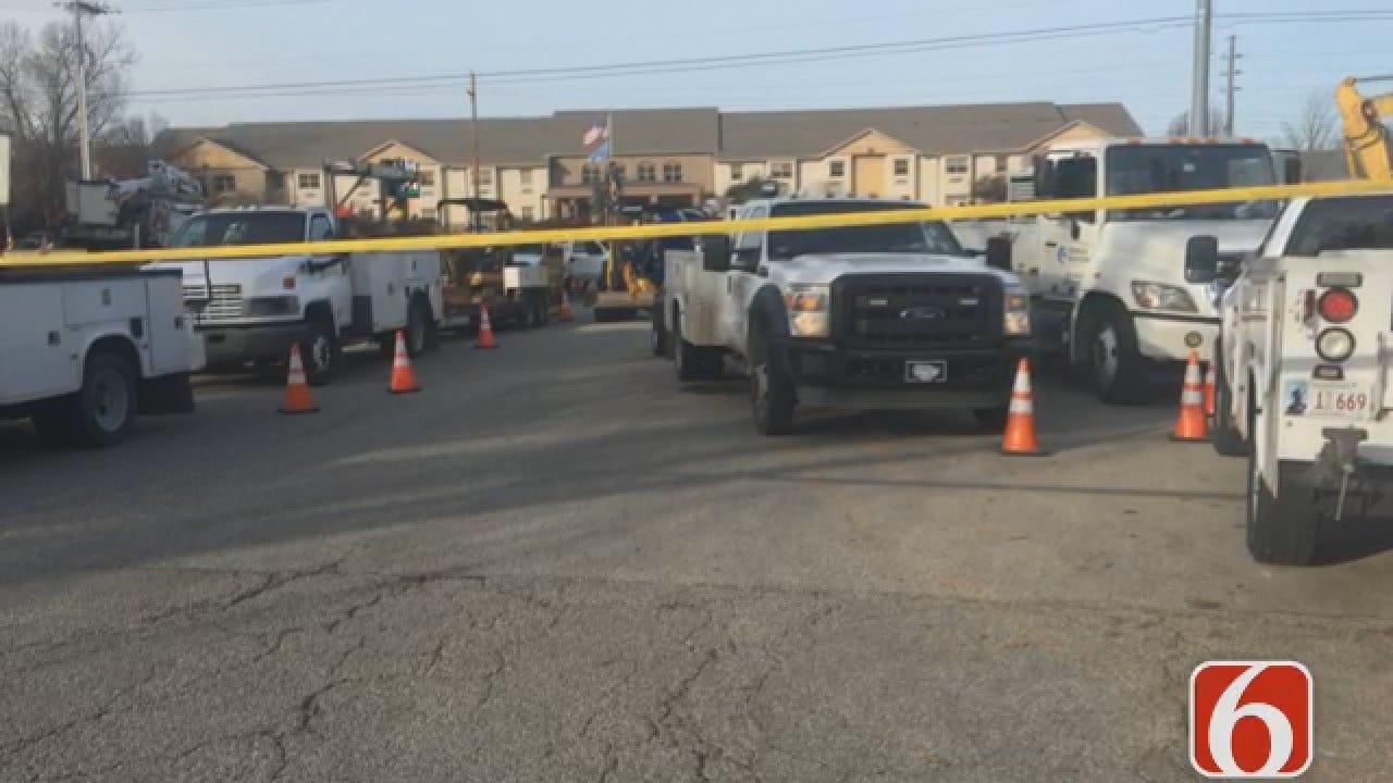 Joseph Holloway Reporting From Scene Of Tulsa Gas Leak