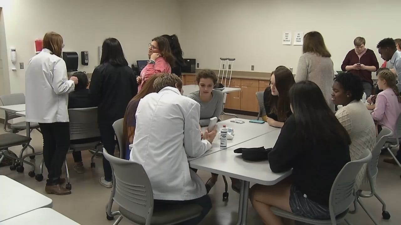 WEB EXTRA: Video From Meeting Of OU-Tulsa's 'Club Scrubs'