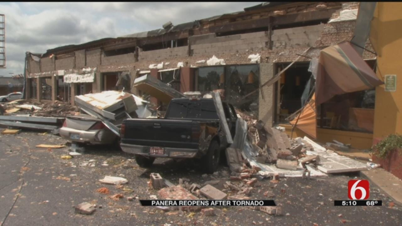Tornado Damaged Tulsa Panera Bread Reopens