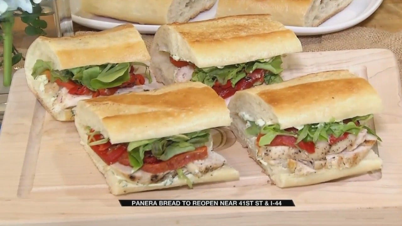 Chicken & Roasted Red Pepper Baguettes