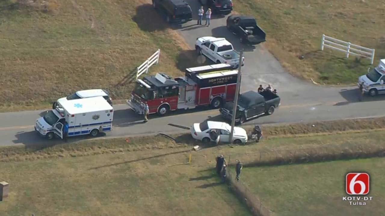 Osage SkyNews 6 HD Flies Over Fatal Wreck Near Oologah Lake