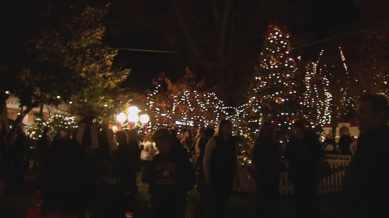 WEB EXTRA: Video From Tulsa's Utica Square 'Lights On'