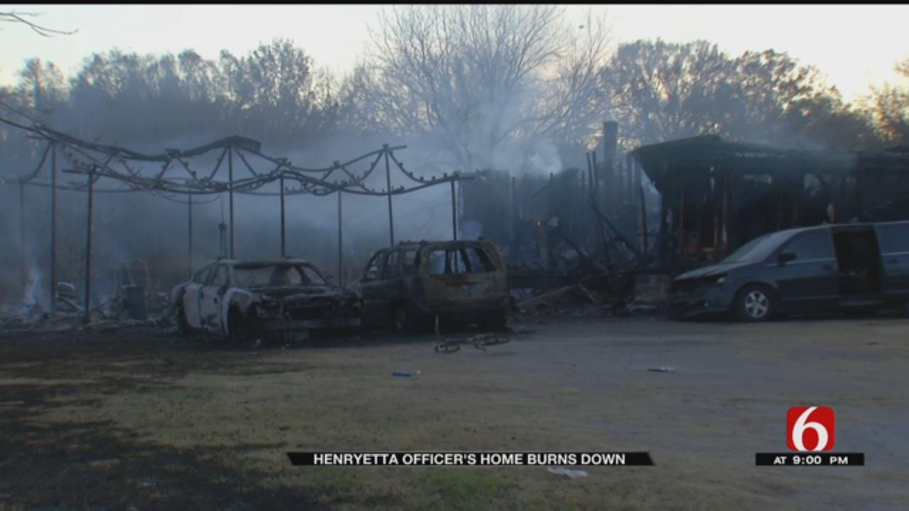 Henryetta Police Officer's Home Destroyed By Fire