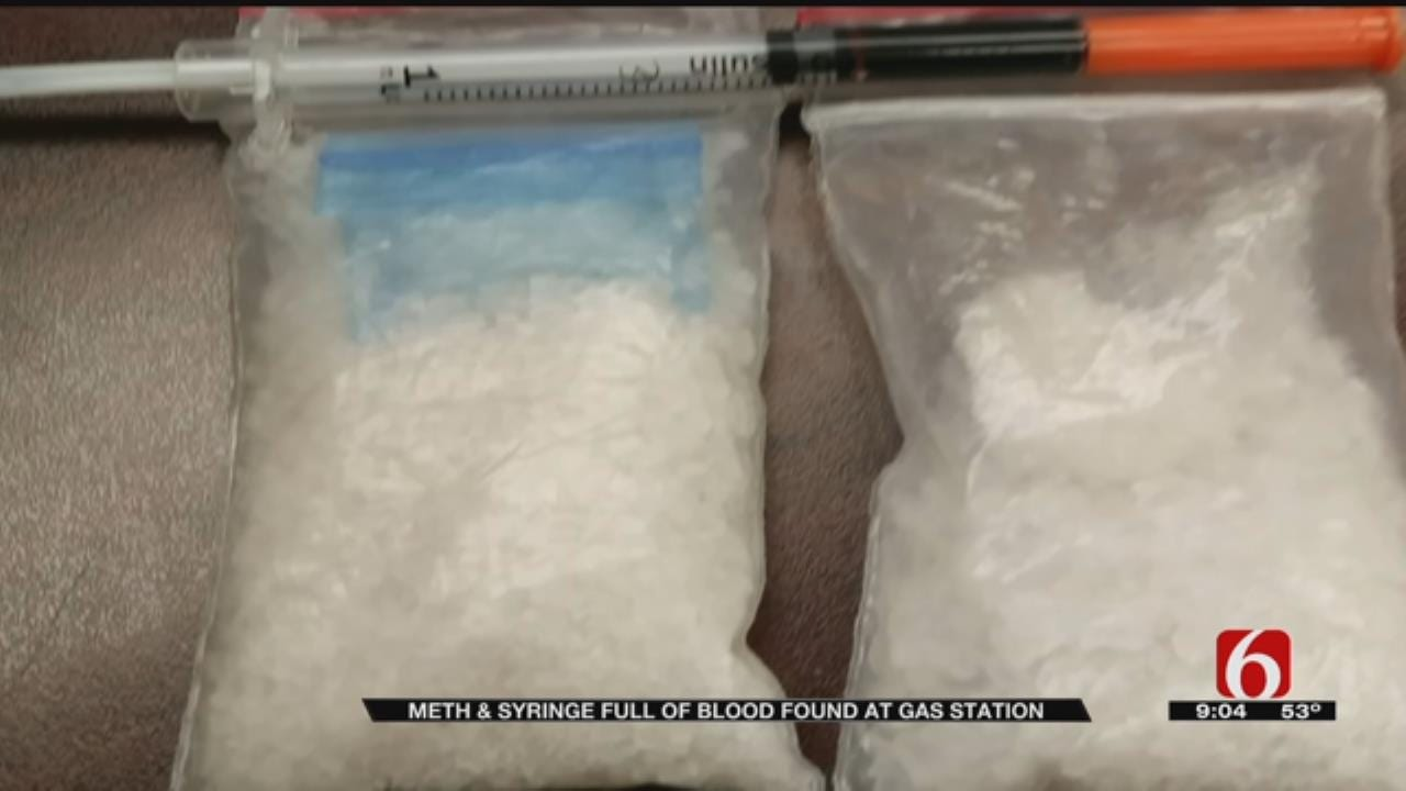 Meth, Syringe Of Blood Found Outside Cleveland Gas Station