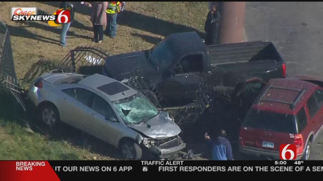 Man Chasing His Own Stolen Truck Crashes Near Tulsa Highway