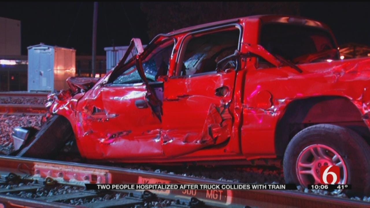 Truck Dragged 200 Feet After Impact With Train