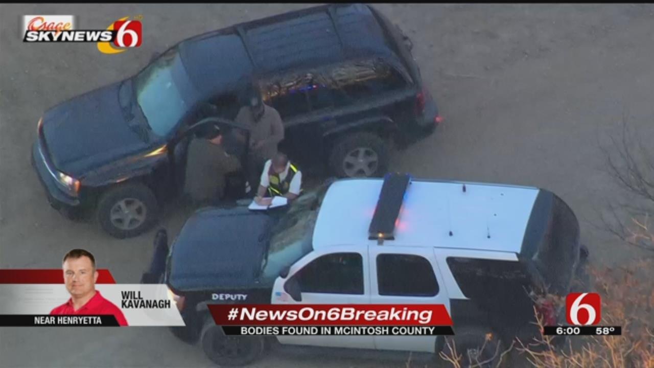 Two bodies were found near Henryetta on Tuesday afternoon.