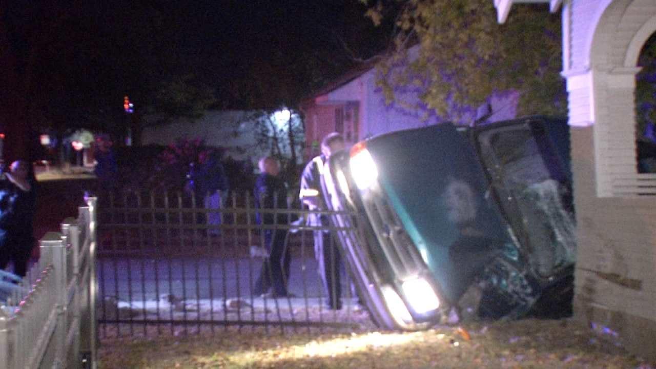 Joseph Holloway: Man Crashes Into House In Tulsa Police Chase