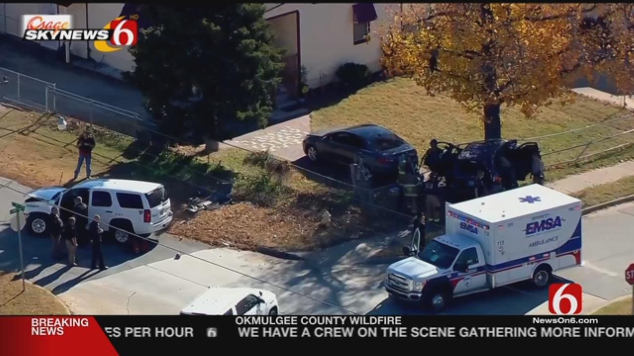 TCSO Deputy Hurt In West Tulsa Crash