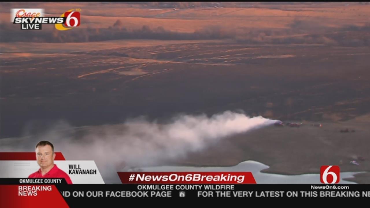 Wildfire Threatens Homes In NE Okmulgee County