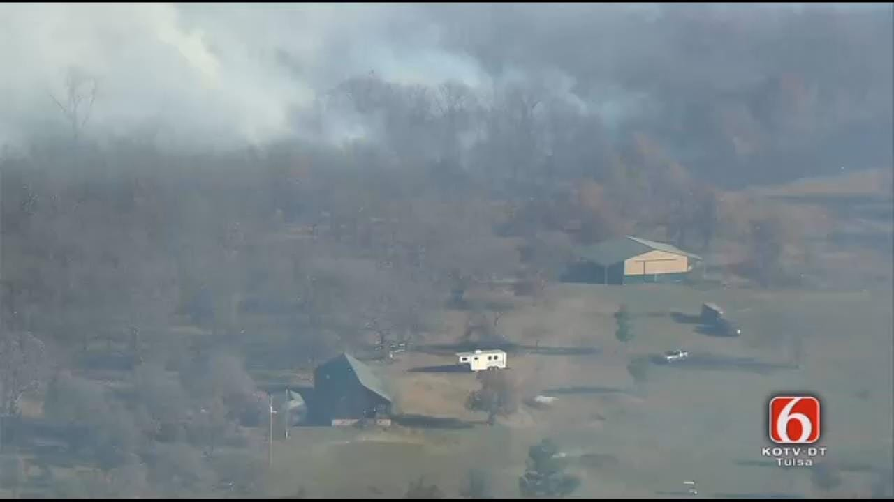 Osage SkyNews 6 HD Video Of Okmulgee County Wildfire