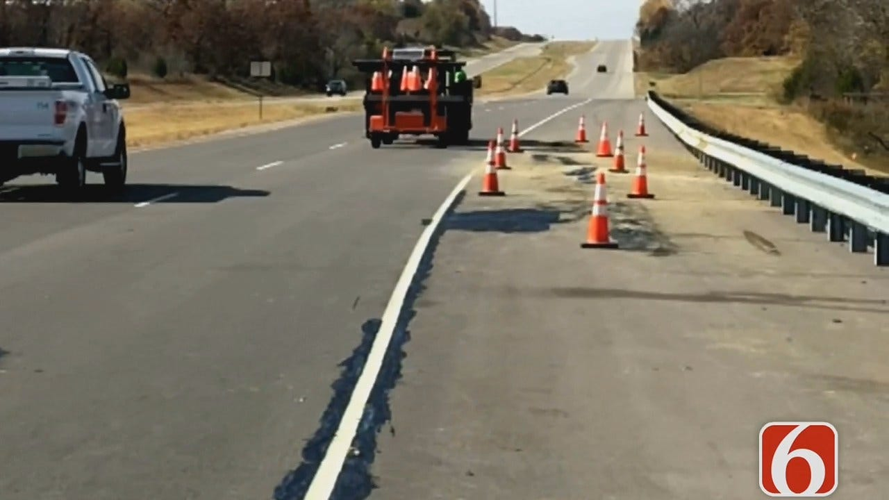 ODOT Monitoring Damaged Stretch Of Highway 51 Near Sand Springs