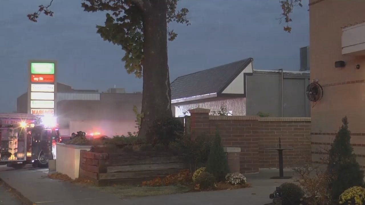 WEB EXTRA: Video From Scene Of Building Fire On Tulsa's Cherry Street