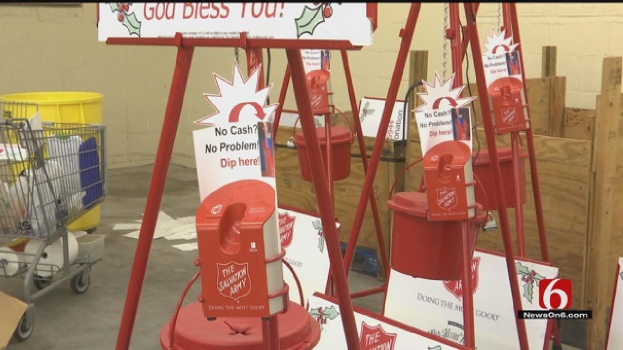 'No Cash. No Problem.' Tulsa Salvation Army Red Kettles Going Digital