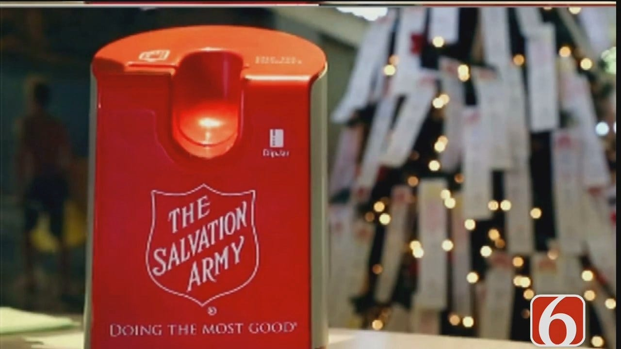 Tess Maune: Donate To Salvation Army Red Kettles Using Card Readers