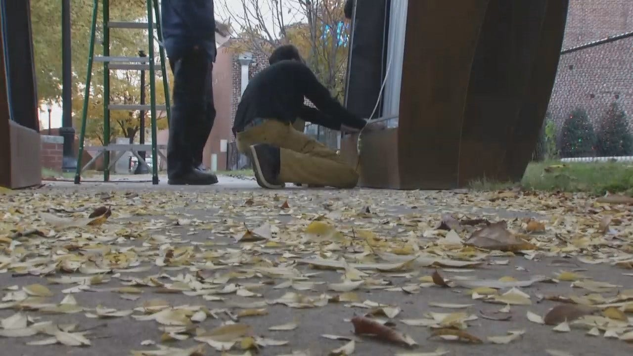 WEB EXTRA: Video Of New Art Work Outside Tulsa's Coney Islander