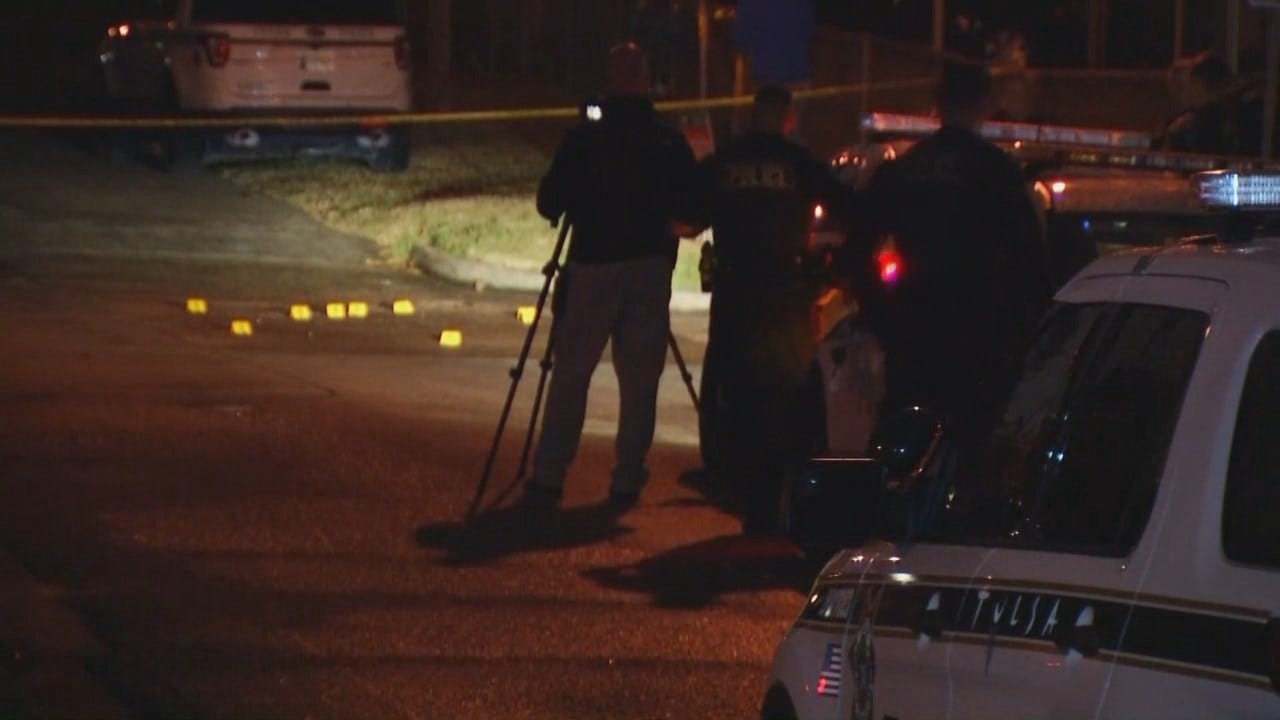 WEB EXTRA: Video From Scene Of Tulsa Drive-By Shooting